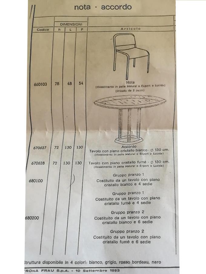 Set Accordo e 4 Nota (anni '80), Poltrona Frau - Deesup