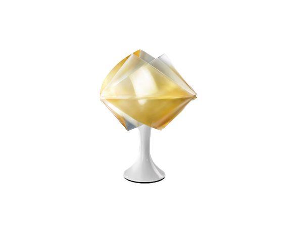 Gemmy Prisma table (gold), Slamp