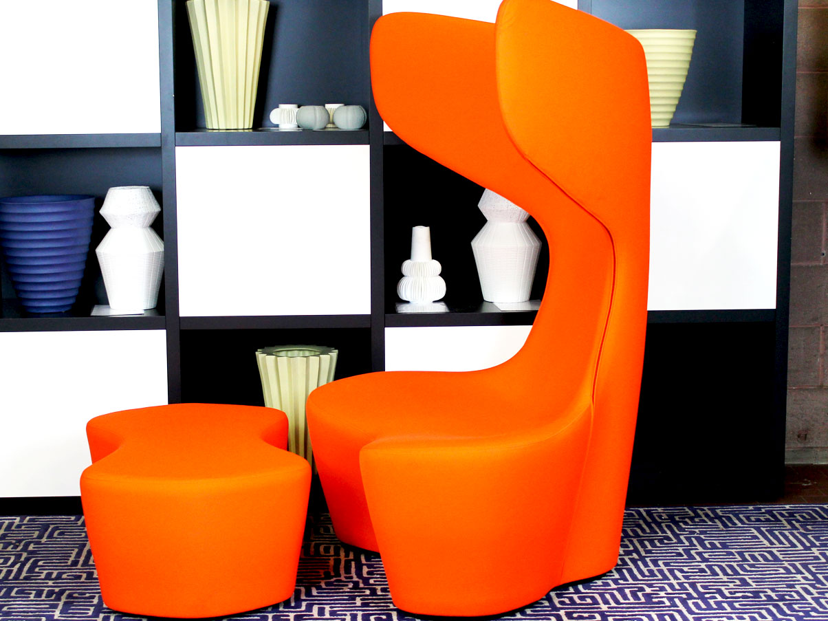 Drum with ottoman (orange), Cappellini - Deesup