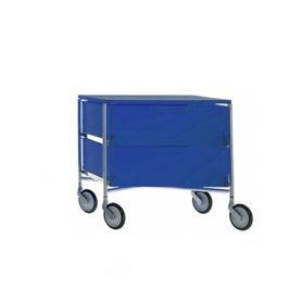 Mobil 2 drawers with wheels (blue), Kartell