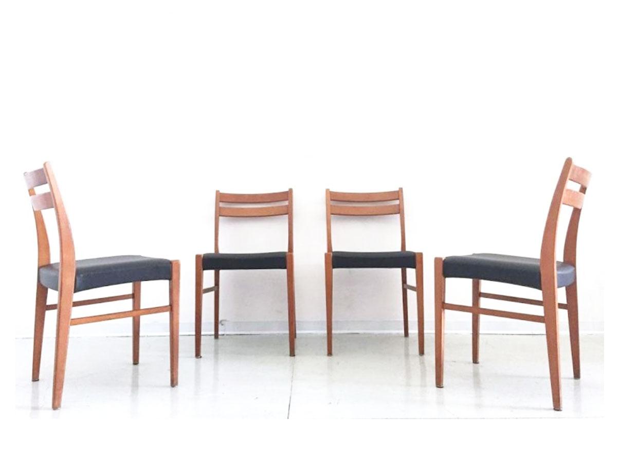 Design Scandinavo Anni 50 set 4 1950s scandinavian style chairs