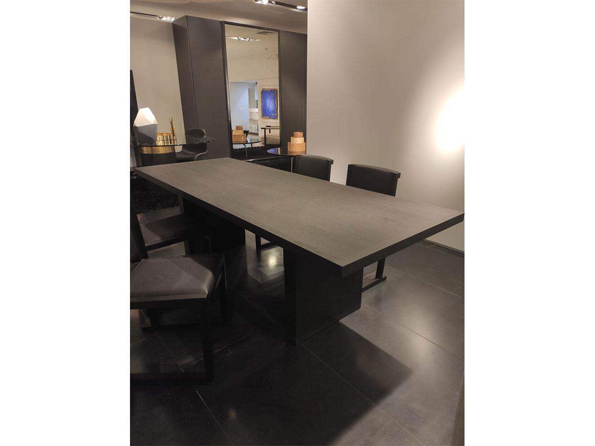 Simposio Rectangular Table In Oak Black Wood Maxalto Deesup