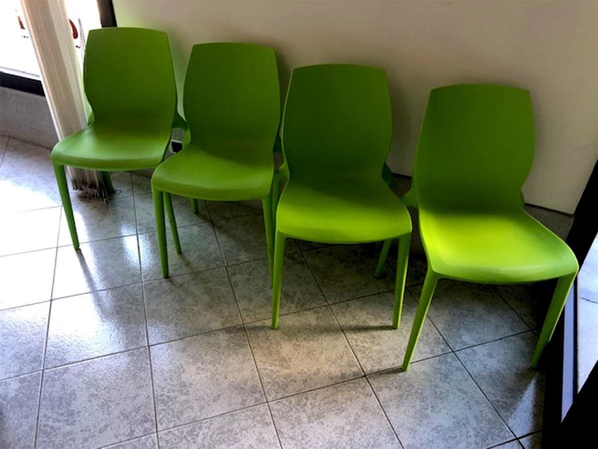 Set 4 sedie Hidra impilabili polipropilene (verde ...