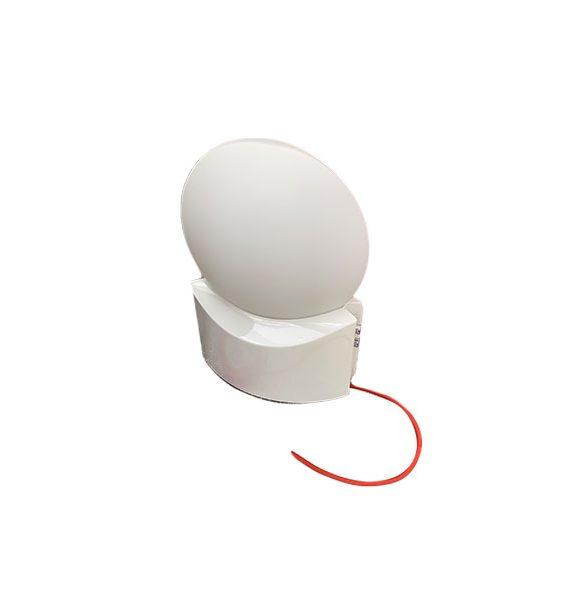 Lampada Da Tavolo Helioled In Vetro Bianco Lumen Center Deesup