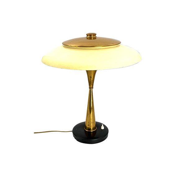 Lampada Da Tavolo Vintage 442 Ottone Anni 50 Lumi Milano Deesup