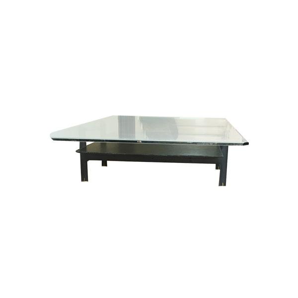 Rectangular Coffee Table Vintage In Metal And Glass Black Deesup