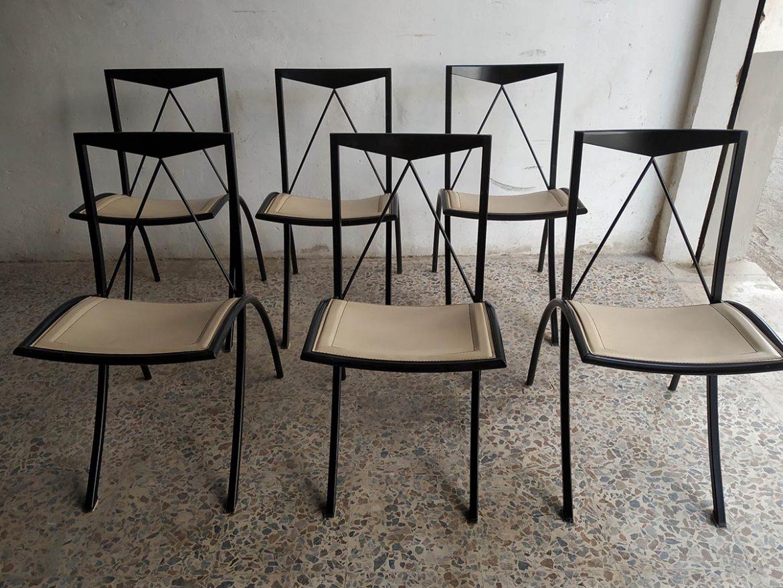 Set 6 sedie pieghevoli Bella pelle (beige), Cattelan ...