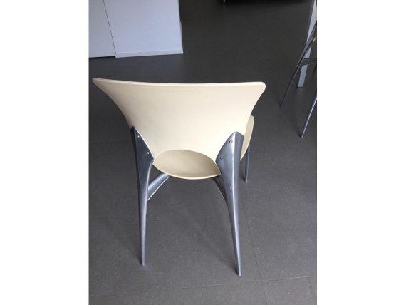 Set 6 sedie impilabili Silla di Josep Llusca (beige ...