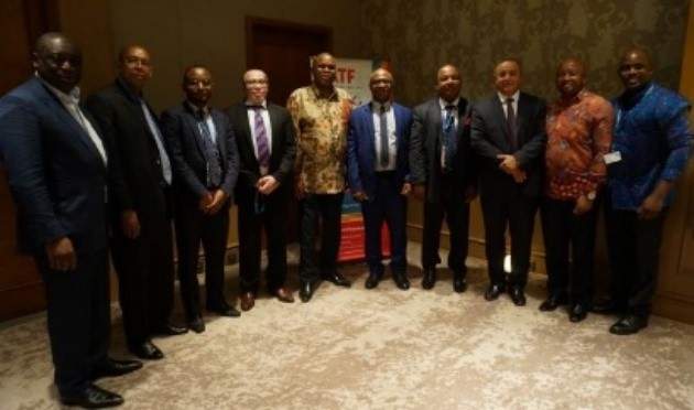 Afreximbank President Prof. Benedict Oramah (6th right) and Dr. Yani Younoussa, Governor of the Central Bank of Comoros (5th right), in group photo with some of the meeting participants, including Afreximbank Executive Vice President Amr Kamel (3rd right).