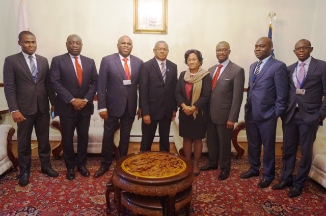 Group photo of the Madagascan and Afreximbank delegations following the meeting at the Embassy of Madagascar in Washington D.C.