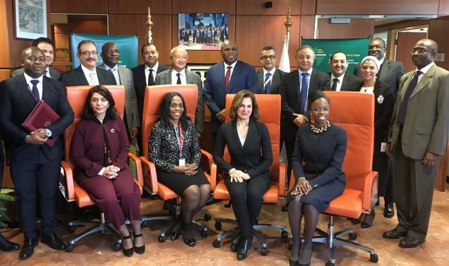 The Afreximbank and OIH teams in group photo following the signing of the facility agreement in Cairo