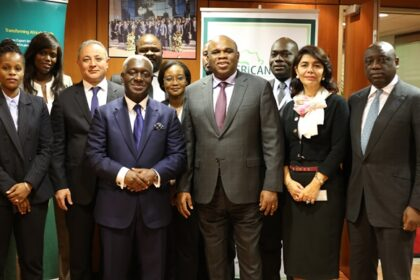 The Afreximbank and AGF teams in group photo following the signing of the MoU.