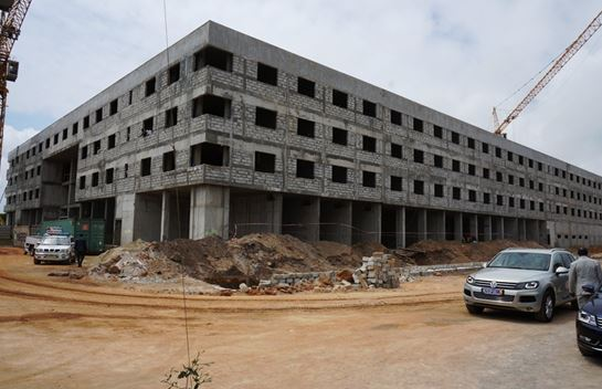 The Radisson Blu Abidjan Airport Hotel under construction