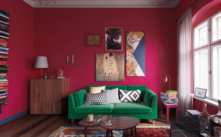 Ikea Room Red
