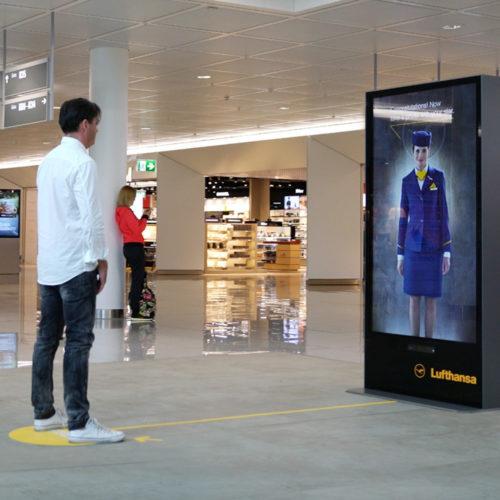Lufthansa Motion-Based Kinect Installation
