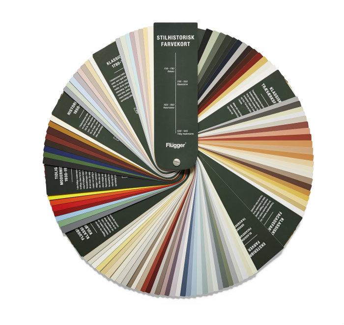 Stilhistorisk farvekort i vifte