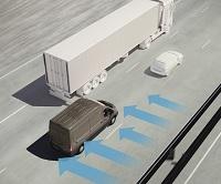 Ny teknologi vil gøre det lettere for brugere af Ford Transit og Ford Transit Custom at holde varebilen på plads i blæsende vejr med kraftige vindstød