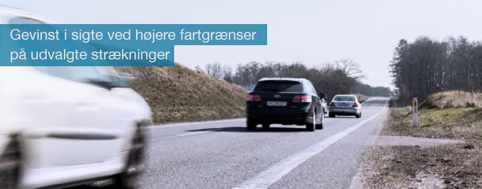 Der kan hentes samfundsmæssig gevinst ved at hæve hastighedsgrænserne visse steder