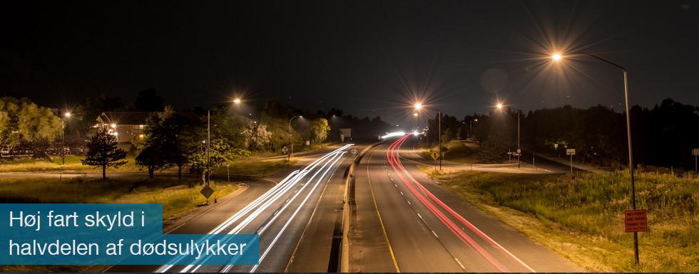 Der er høj fart bag over halvdelen af de dødsfald, der sker i trafikken, viser tal fra Vejdirektoratet