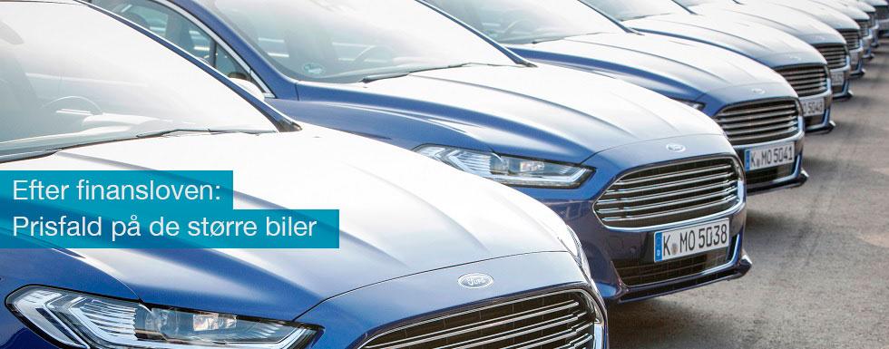 Nu falder bilpriserne som følge af finansloven for 2017
