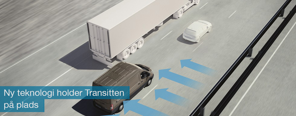 Nu kan Transitten takket være ny teknologi nemmere holdes stabilt i vejbanen også i kraftig sidevind og blæst