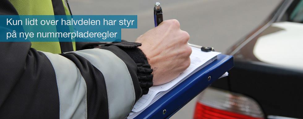 Kun lidt over halvdelen af bilisterne har sat sig ind i de nye regler for fastskruning af nummerplader
