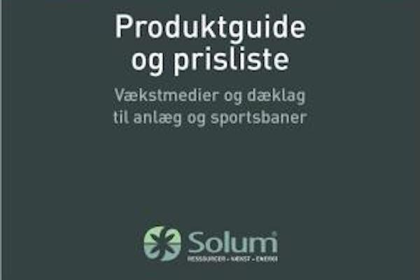 Solum Roskilde A/S: Opdateret produktguide til vækstmedier og anlægsprodukter