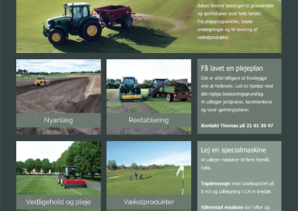Website for græspleje