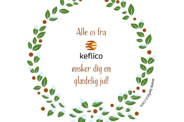 Vi ønsker dig en glædelig jul - fra alle os i Keflico A/S
