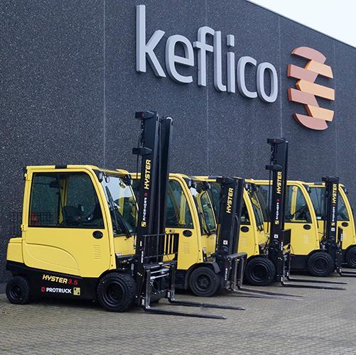 Nye El-trucks på Keflico's 14.000 m2 lager - www.keflico.com