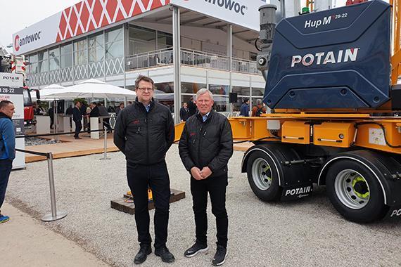 Ajos solgte fleksibel semimobilkran til JORTON på Bauma