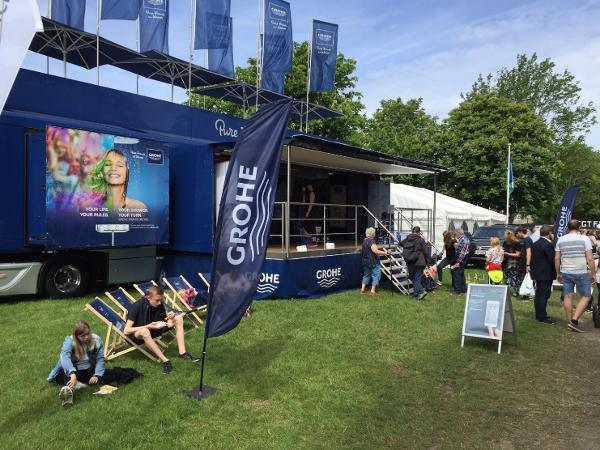 GROHE inviterede forbrugere ind i en rullende verden af innovative produkter på Roskilde Dyrskue