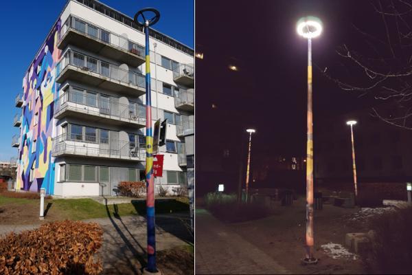 Bæredygtige belysningsmaster i kompositmateriale kan øge sikkerheden og forskønne på samme tid
