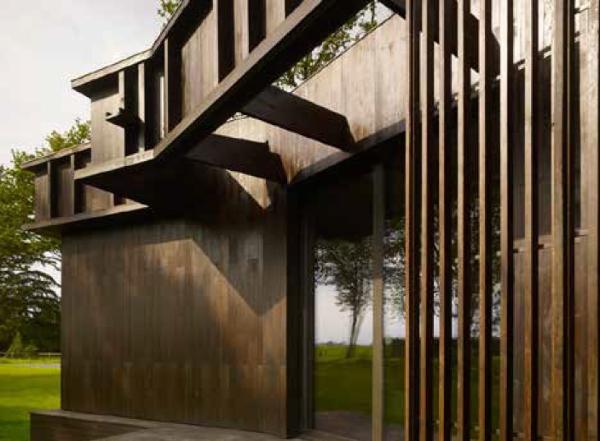 Et patineret look til moderne arkitektur