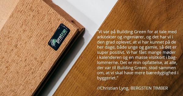 Skal I have en af de sidste stande til Building Green?