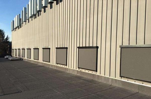 Vindstabil og betjeningsvenlig solafskærmning til Landbohøjskolen