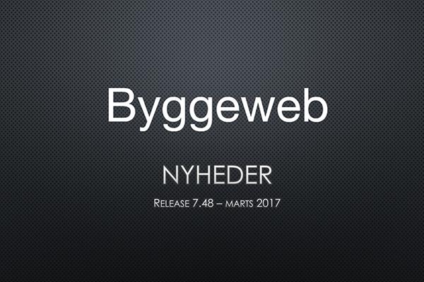 Ny release på Byggeweb porteføljen