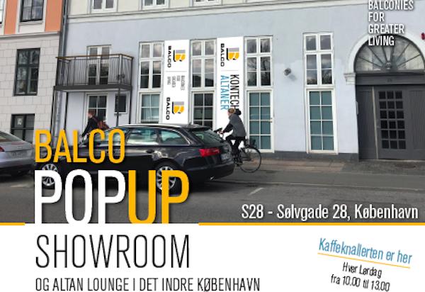 Balco POPUP showroom og altan lounge i det indre København
