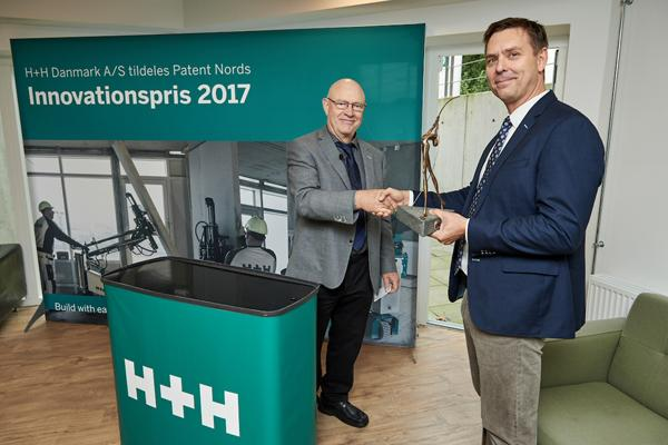 H+H Danmark A/S fik tildelt Patent Nords Innovationspris 2017