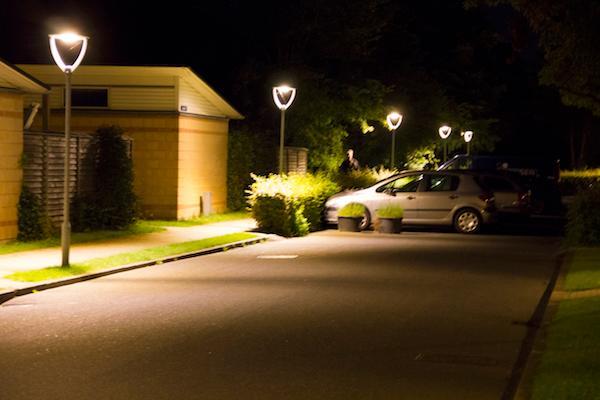 God vej- og parkbelysning forbereder helhedsindtrykket