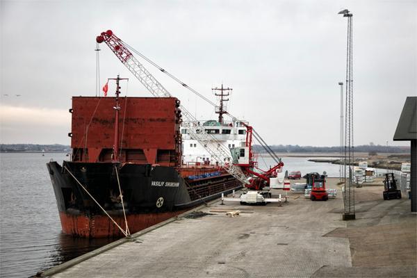 Skibet er ladet med sibirisk lærk