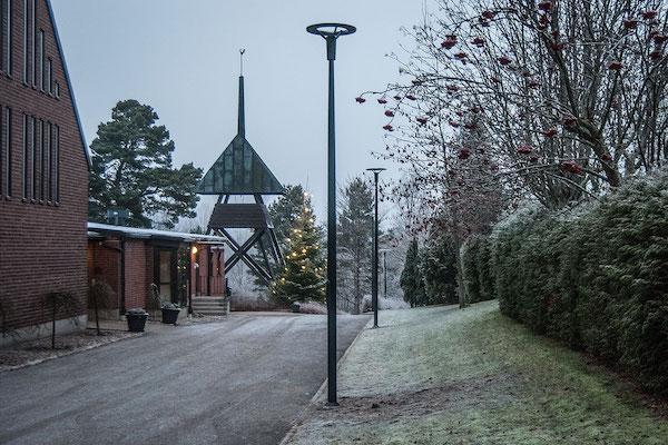 Belysningsstolper i komposit til gader, parker og pladser