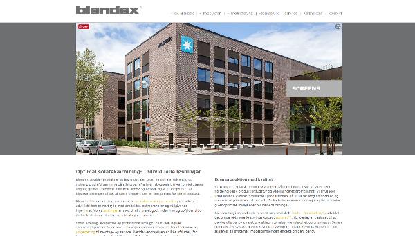 Blendex har fået ny hjemmeside