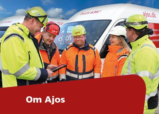 Om Ajos - mennesker og materiel