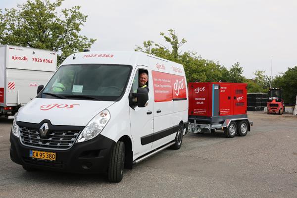 Ajos køber trailergenerator for at øge fleksibiliteten