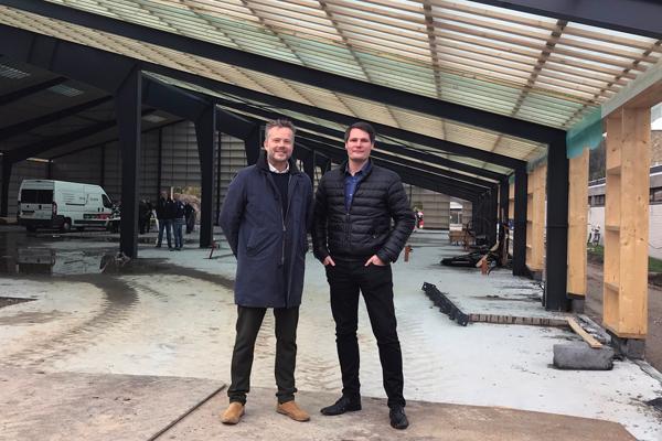 Spærene rejst til Danmarks nye nationale brydecenter