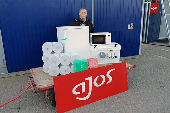 Ajos leverer skure og moduler med indhold