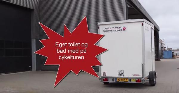 Testtur inden Tour de France med Mobil-Toilet-bad-House