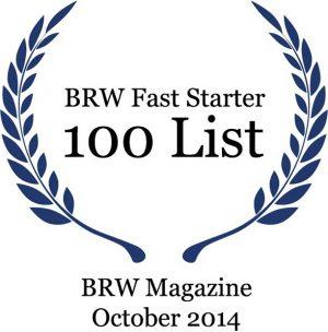 BRW Fast Starter 100 list