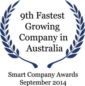 9th Fastest growing company in Australia